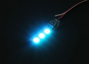3 RGB LED 7 Color Board 5V com Futaba Estilo plug