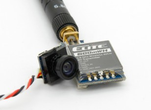 Quanum Elite 600mW 5.8GHz 40CH FX718-6 Transmissor AV e câmera Combo (P & P)