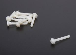 Parafusos de nylon 6.25x55mm (10pcs / set)