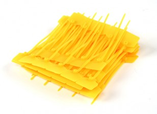 Cintas 120 milímetros x 3 milímetros amarelas com marcador Tag (100pcs)