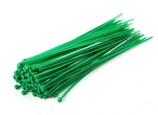 Cintas 160 milímetros x 2,5 milímetros Verde (100pcs)
