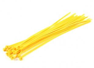Cintas 350 milímetros x 7 milímetros amarelas (20pcs)