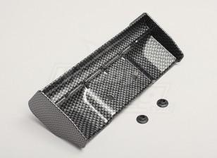 1/8 asa acabamento de fibra de carbono com arruelas de montagem