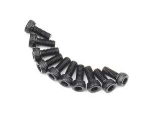Metal soquete Machine Head Hex Screw M2.6x6-10pcs / set