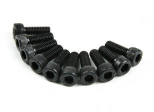 Metal soquete Machine Head Hex Screw M3x8-10pcs / set