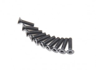 Machine Head metal plana Hex Screw M2x8-10pcs / set