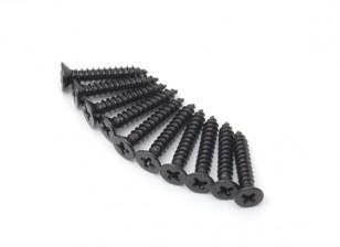 Metal plana cabeça Self-Tapping afiada cauda Phillip Screw M2.5x14-10pcs / set