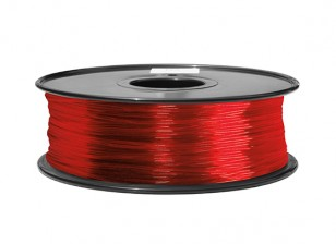 HobbyKing 3D Filament Printer 1,75 milímetros ABS 1KG Spool (Transparent Red)