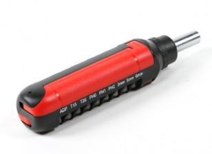 HobbyKing ™ 15pc Rachet chave de fenda Set (Red)