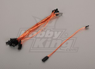 20 centímetros Servo de chumbo (JR) 32AWG Ultra Light (10pcs / saco)
