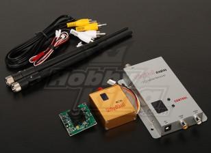 900MHZ 800mW Tx / Rx & câmera CCD de 1/3 polegadas NTSC