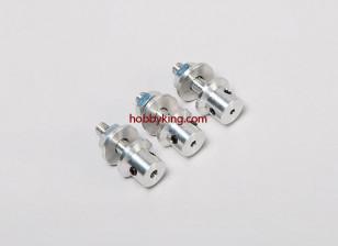 adaptador Prop w / Aço Porca 3 / 16x32-3mm eixo (Grub tipo parafuso)