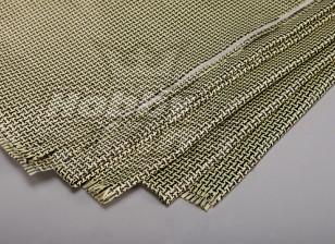 Fibra de carbono 3K e Kevlar-29 Cloth (180g / m2) 2 folhas - 1.000 milímetros x 500 milímetros