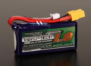 Turnigy nano-tecnologia 1000mAh 3S 25 ~ 50C Lipo pacote