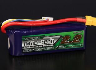 Turnigy nano-tecnologia 2200mAh 4S 45 ~ 90C Lipo pacote