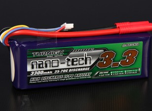 Turnigy nano-tecnologia 3300mAh 4S 35 ~ 70C Lipo pacote