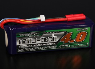 Turnigy nano-tecnologia 4000mAh 6S 45 ~ 90C Lipo pacote