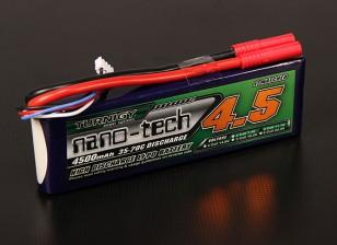 Turnigy nano-tecnologia 4500mAh 3S 35 ~ 70C Lipo pacote