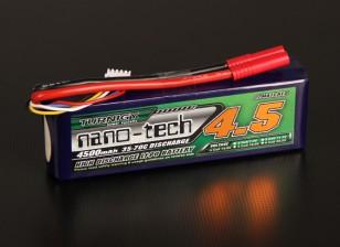 Turnigy nano-tecnologia 4500mAh 4S 35 ~ 70C Lipo pacote