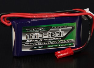 Turnigy nano-tecnologia 460mAh 2S 25 ~ 40C Lipo pacote
