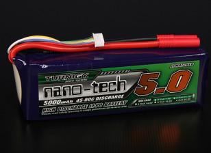 Turnigy nano-tecnologia 5000mAh 6S 45 ~ 90C Lipo pacote