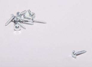 Auto Tapping Screw M2x12mm Phillips cabeça w / ombro (10pcs)