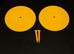 Radio Control Car Pista Deriva marcadores amarelos 2 x 200 milímetros