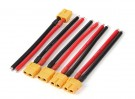 XT60 Feminino w / 12AWG Silicon fio 10 centímetros (5pcs / bag)