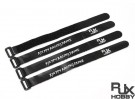 RJX Ultra-Grip Silicone Velcro Battery Straps Black (250X20mmx4pcs)