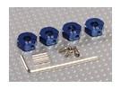 Adaptadores de rodas de alumínio azul com parafusos de fixação - 5 milímetros (12 milímetros Hex)