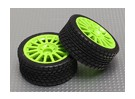 Roda / pneu Set (roda verde) (2pcs / bag) - 1/16 Brushless 4WD Mini Rally Car