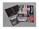 Auto-adesivo decalque folha - The Boss SC 1/10 Scale (345 milímetros x 240 milímetros)