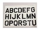 Letras / símbolos Preto-prata Luftwaffe Estilo (grandes) 2 folhas