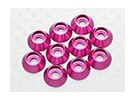 Sockethead Washer alumínio anodizado M3 (Cherry Red) (10pcs)