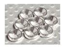 Rebaixada Washer alumínio anodizado M3 (prata) (8pcs)