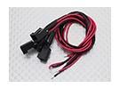 Molex 2 pinos cabo conector fêmea com 220 milímetros x 26AWG Wire (5pc)