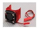Motor dissipador de calor w / Fan Red alumínio (27 milímetros)