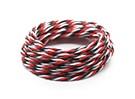 Torcido 22AWG Servo fio vermelho / preto / branco (5mtr)
