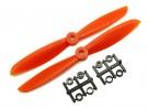 Gemfan 6045 GRP / Nylon Hélices CW / CCW Set (laranja) 6 x 4,5