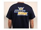 Passatempo Rei T-shirt azul da marinha (grande)