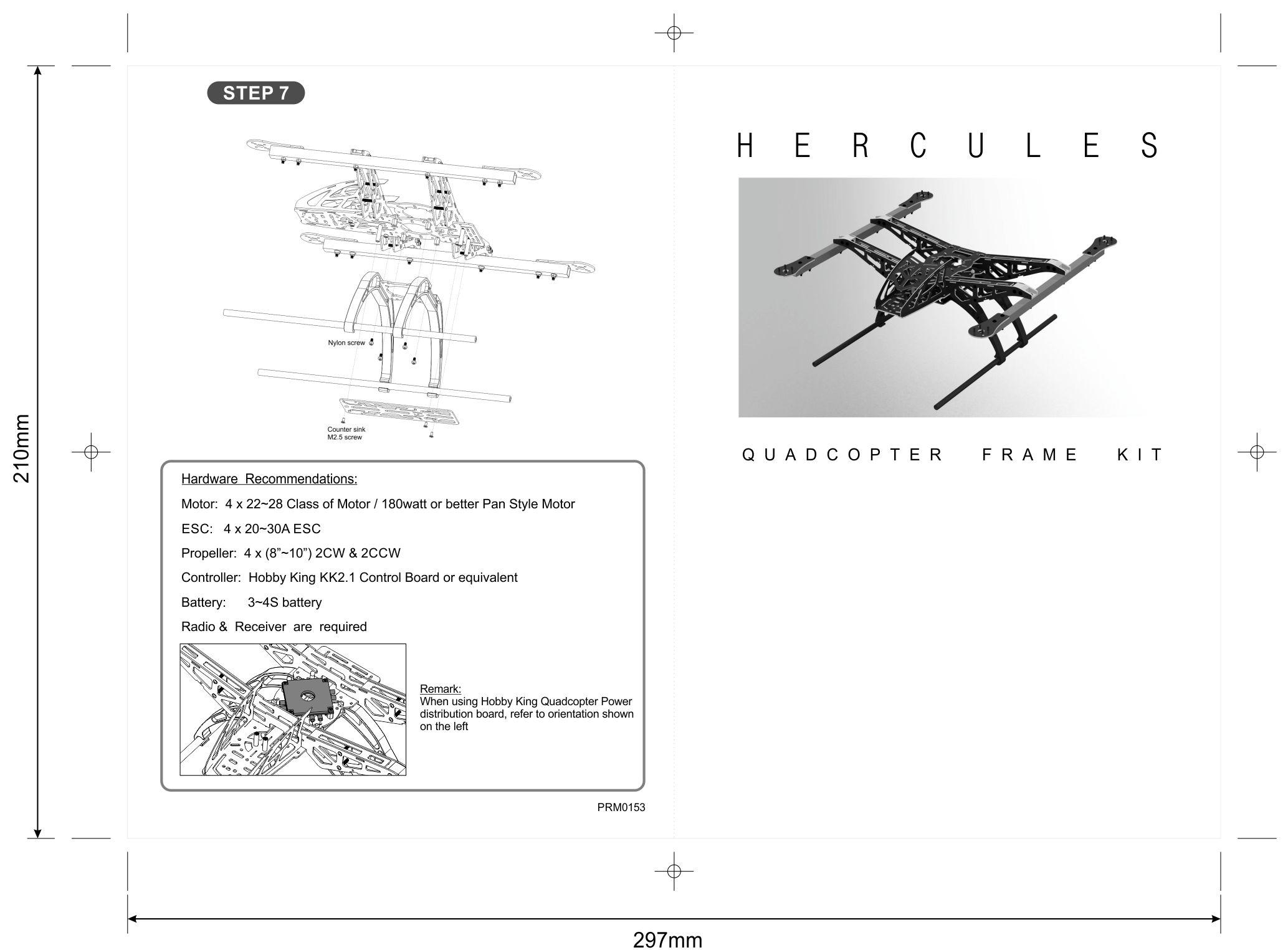 hercules 500mm quadcopter kit manual