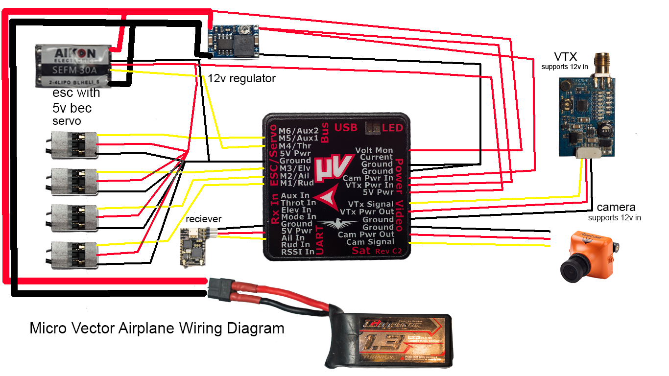 eagle tree systems micro vector flight controller w osd wiring