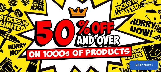 50% off warehouse sale