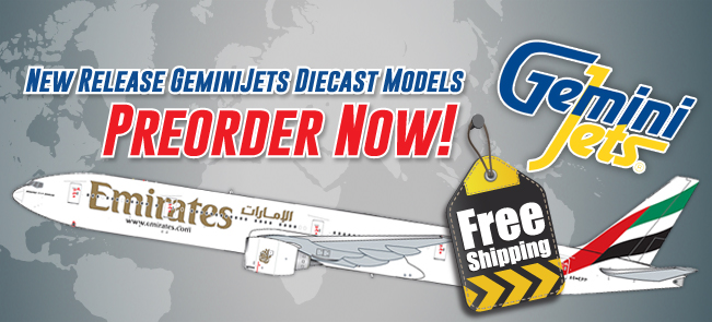 COLLECTIBLE AIRPLANE MODELS Gemini200/ Geminijets 1:400